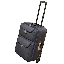 Blue Nylon Travel Trolley Bag