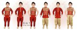 Kids Boys Kurta Dhoti Jacket