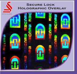 Secure Lock Holographic Overlay For Id Cards