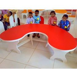 Halfmoon Table with 5 Chairs Waterproof Ply Made