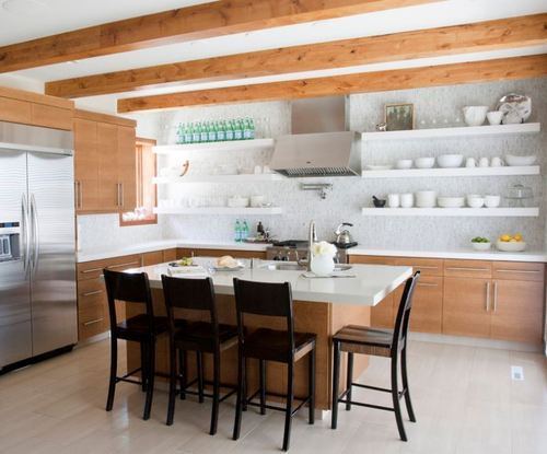 Modern Kitchen Shelves