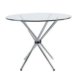 White Stainless Steel Round Meeting Table