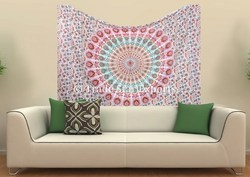 Ethnic Floral Mandala Wall Hanging Tapestry