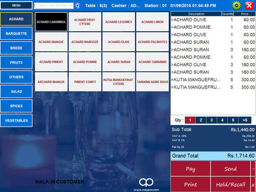 Point Of Sale Restaurant Software At Rs 30000 Pack