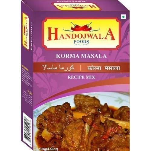 Handojwala 100 g Korma Masala, Packaging: Box