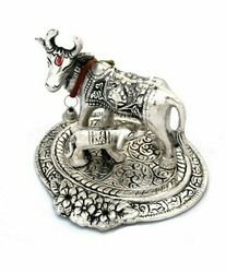 Brass Cow And Calf Statue