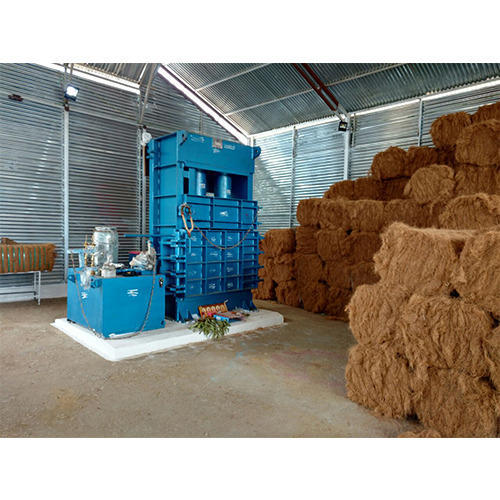 Coir Fiber Baling Machine, Hydraulic Baler - Mask Hydraulic Machineries, Ahmedabad | ID: 10481696773