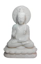 White Marble Buddha Statue, for Promotional Use, Size/dimension: 10x7x3 Inches
