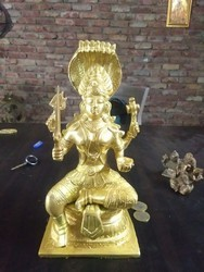 Bedi Golden Brass Marriam Statue