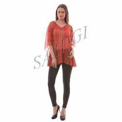 Orange Thread Short Kurti