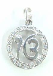 925 Silver Ek Omkar Pendant