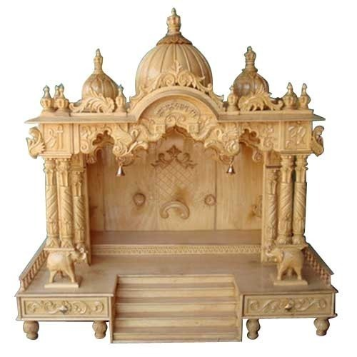 Hand Carved Wooden Mandir At Rs 50000 /piece