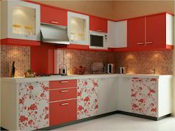 Designer L Shape Modular Kitchen