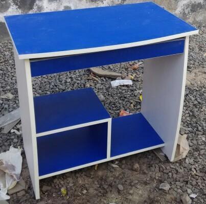 san francisco 0c5ef 3e94f Blue Wooden Mini Computer Table, India Steel Furniture | ID ...
