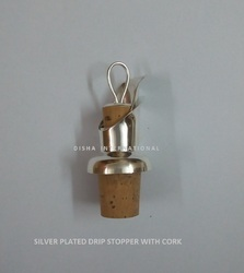 Silver Plated Drip Stopper with Cork