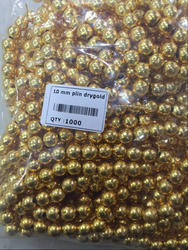 Brass Beads 10 Mm Beads