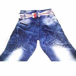 Blue Garment Jeans  Printing