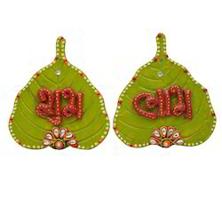 Door Hanging Paan Shape Shubh Labh
