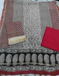 Discharge Print Chanderi Suit