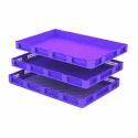 Blue Sericulture Crates, Shape: Rectangular And Square