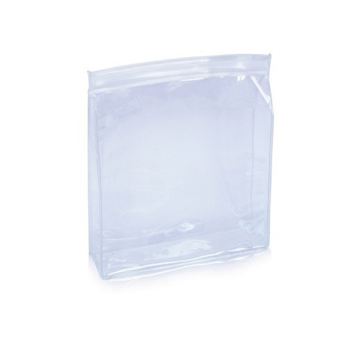 1 to 10 Kg Plain Glossy Transparent PVC Zipper Bag For Packaging, Thickness: 150 micron