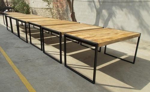 Reclaimed Mango Wood Dining Table With Metal Legs Garud