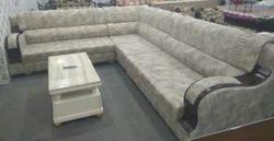 L Leather Corner Sofa Set, For Home