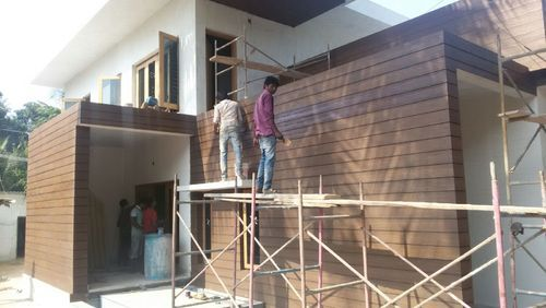 Cement Planked Exterior : Exterior wall cladding wooden cement plank at rs