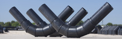 HDPE Fabricated 45 Degree Bend Fitting