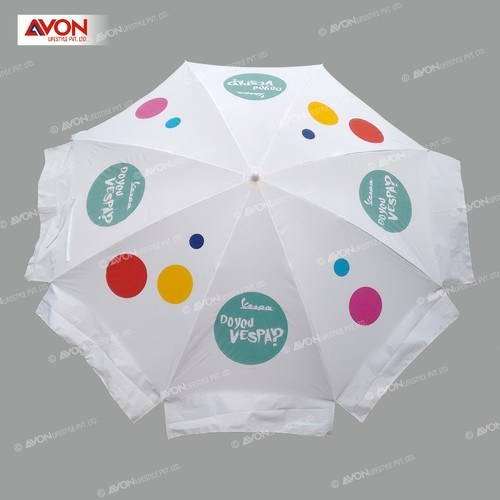 f54ff2931b887 White Polyester Printed Corporate Patio Umbrella, Rs 450 /piece | ID ...