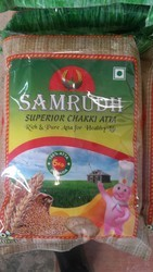 Samrudh Chakki Atta 5kg Packet. Per 120rs