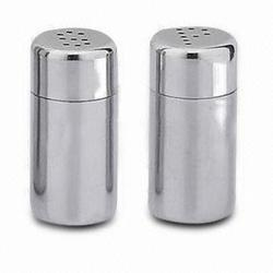 Silver Steel Salt And Pepper Shaker, Packaging Type: Box