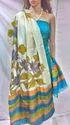 Classy Tussar Silk kantha Dress Material