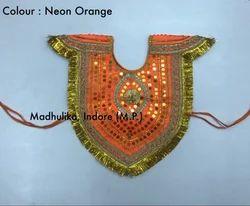 Krishna Velvet Kavach Handwork God Costume