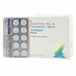 Dicyclomine HCL & Paracetamol Tablet