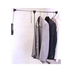 Black & Silver Pull Out Clothes Hanger