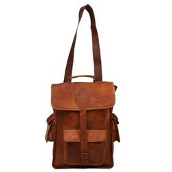 Genuine Leather Mac Book Backpack BP113