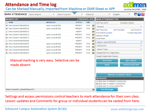 Attendance And Time Log Management System - Addmen Multi
