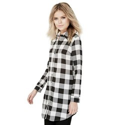 Black And White Ladies Tunic Top