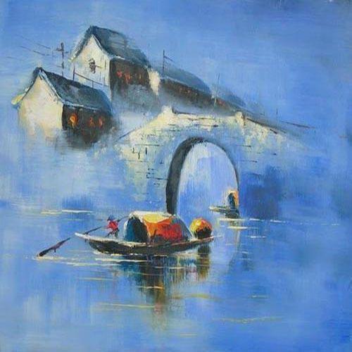 Landscape Oil Painting - Landscape Oil Painting At Rs 5000 /square Feet Punjabi Bagh