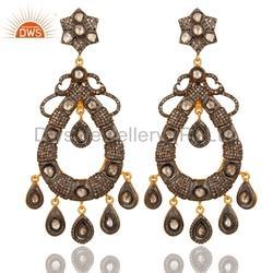 Womens Pave Diamond Earring