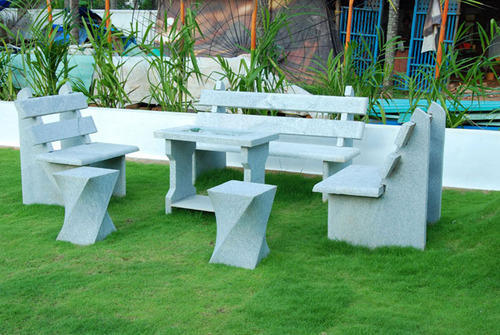 Stone Garden Table Set & Stone Garden Table Set at Rs 18000 /piece | Geethanjali Junction ...