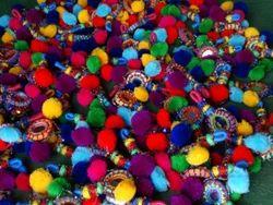 Handmade Pom-Pom Key Rings