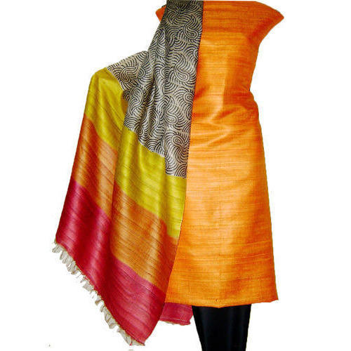 Tussar Silk Dress Materials - Tussar Silk Dress Material Wholesale ...