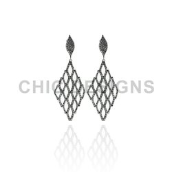 Filigree Marquise Shape Earrings