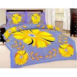 Floral Print Double Bed Sheet And Pillow Covers 366