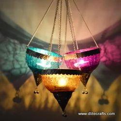 Glass Crack Hanging Lantern
