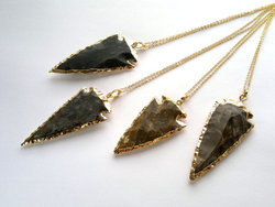 Jasper Arrowhead Pendant Necklace