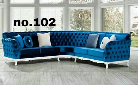 5 Seater Wooden L Shape Sofa