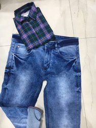 Denim And Shirt Mens Wear
